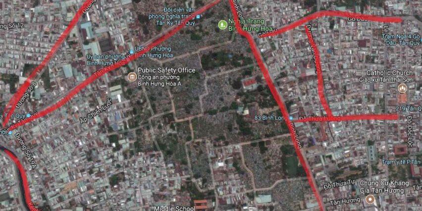 Bản đồ đất nền Bình Hưng Hoà A - Quận Bình Tân