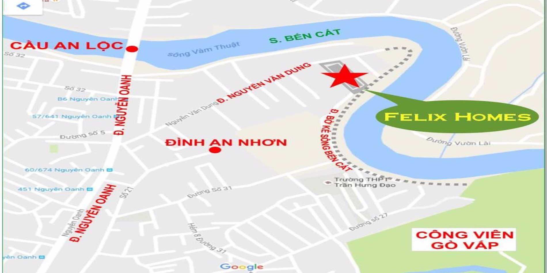 Vị trí Felix Homes Quận Gò Vấp-Dự án căn hộ nhà ở xã hội