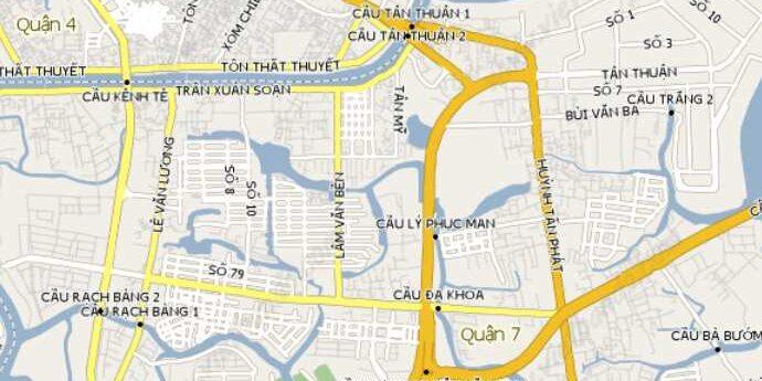 Vị trí - Căn hộ đường Huỳnh Tấn Phát Quận 7