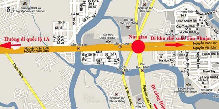 Vị trí - Chung cư căn hộ đường Nguyễn Văn Linh Quận 7